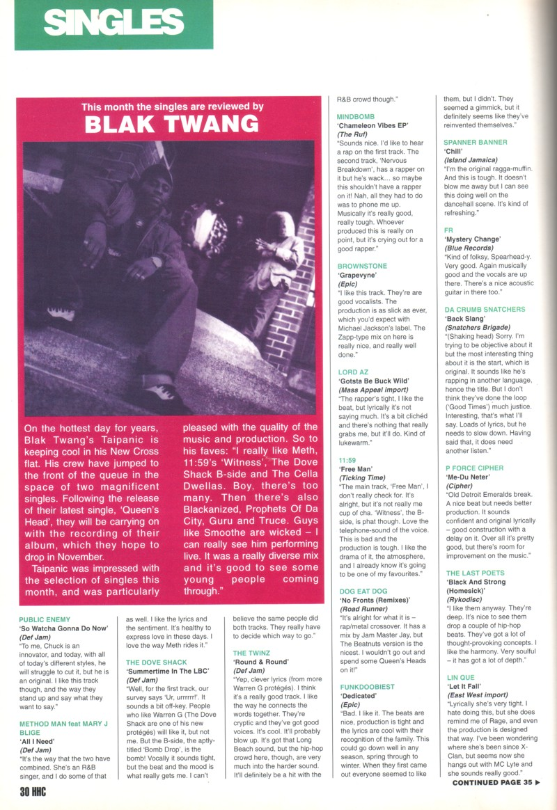 Hip Hop Connection #079 (September 1995) – Britcore
